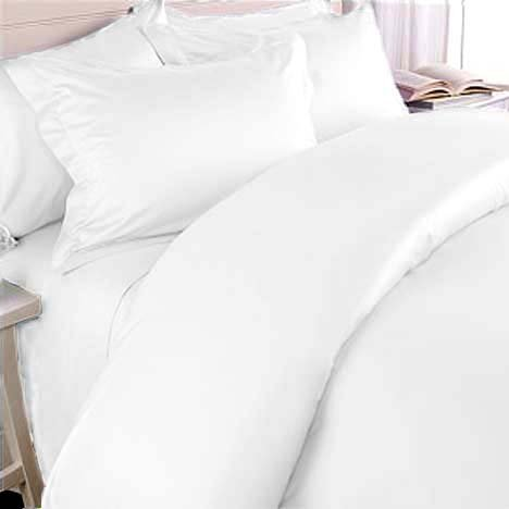 1200TC Egyptian Cotton Sheet Set QUEEN SOLID WHITE BY MARRIKAS