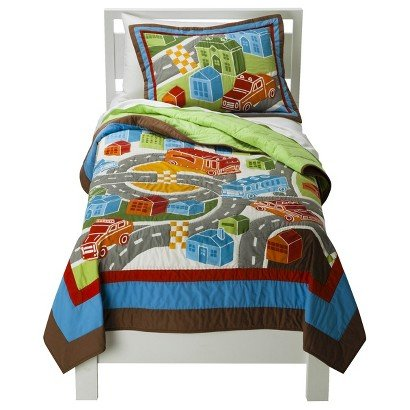 Around Town Cars Trucks Quilt Bedding Set - Twin