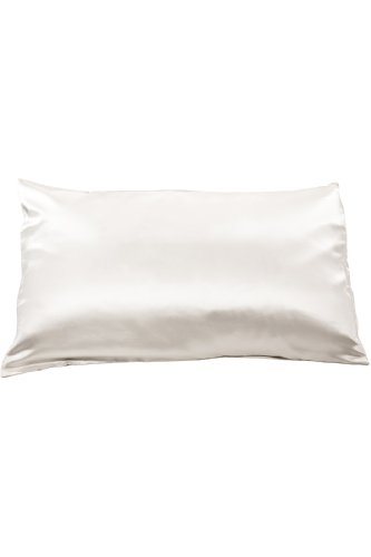 Fishers Finery 19mm Mulberry Silk Queen Pillowcase Natural White