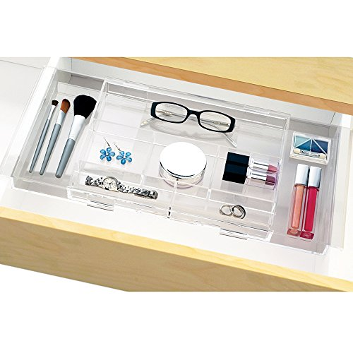 Expandable Hanging Makeup Vanity Organizer - expands to fit multiple widths