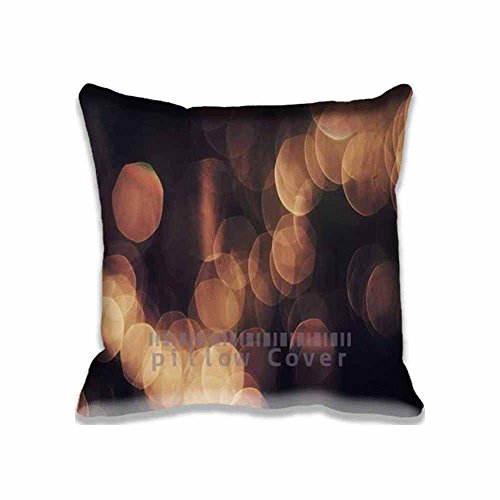 18x 18Bokeh Orange Nature Lights Blur Fashion Design Throw Pillow Covers Waterproof Dustproof Square Pillow Cases Customized