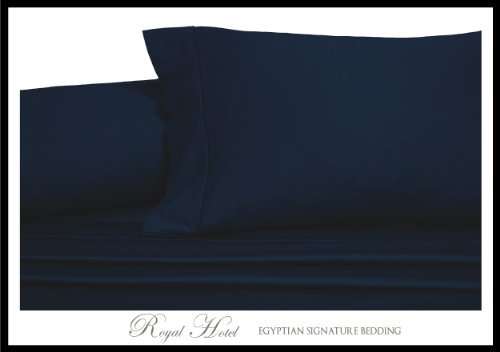 Royals Solid Navy 3pc Super-Single Size Waterbed-Sheets 100 Brushed Microfiber Sateen Solid Sheet Set