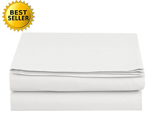 Luxury Flat Sheet Elegant Comfort Wrinkle-Free 1500 Thread Count Egyptian Quality 1-Piece Flat Sheet California King Size White