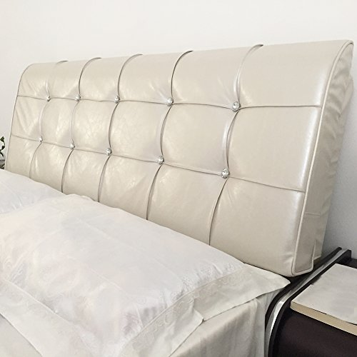 Vercart Sofa Bed Large Filled Triangular Wedge Cushion Bed Backrest Positioning Support Pillow Reading Pillow Office Lumbar Pad with Removable Cover Off-White 71x24x5 Inches