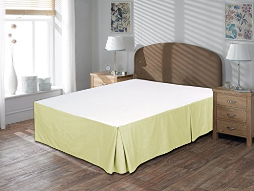KP Linen New Brand Home Offer 850 Thread Count 100 Egyptian Cotton King Size 1pc Split Corner Bed Skirt With 12 Inch Drop Length Ivory Solid