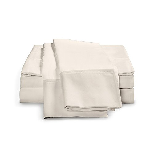 100 Egyptian Cotton Sheet Set - 1000 Thread Count  Single Ply - Sateen Weave  Set Includes One Flat Sheet One Fitted Sheet Two Pillowcases