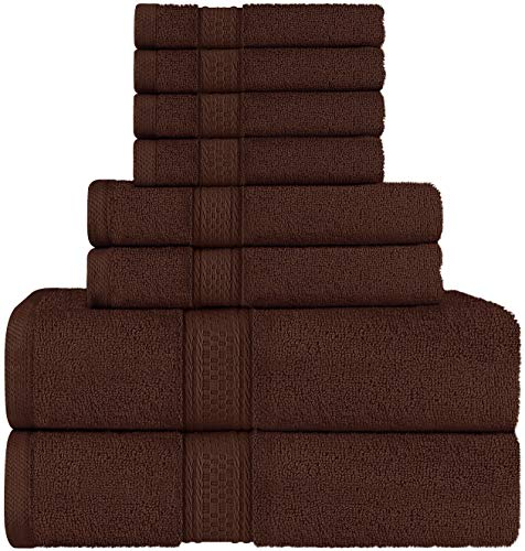Utopia Towels Towel Set 2 Bath Towels 2 Hand Towels and 4 Washcloths 600 GSM 100 Premium Ring Spun Cotton Highly Absorbent Towels for Bathroom Shower Towel Pack of 8