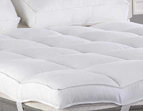 King Mattress Topper Plush Pillow Top Mattress PadBed Topper Hotel Quality Down Alternative 3 Thick