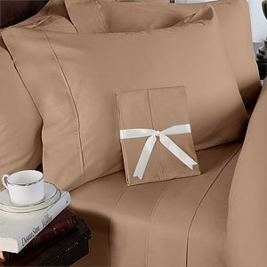 1500 Thread Count 4 Piece Egyptian Cotton Sheet Set - King  Taupe Solid