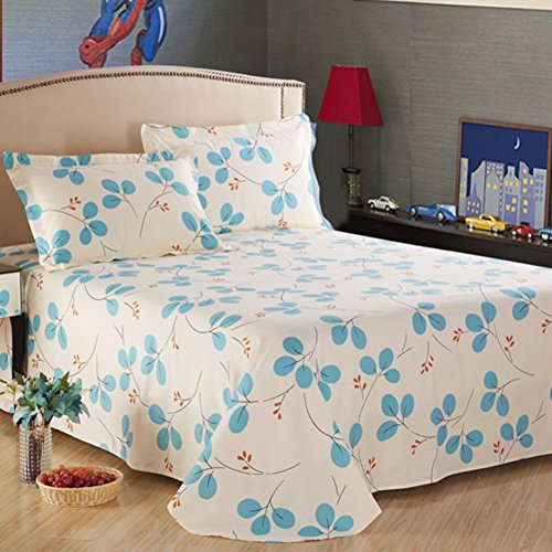 pure Cotton twill bed sheetPure cotton singledouble sheetsSuper soft cotton printed bed linen-D 230x245cm91x96inch