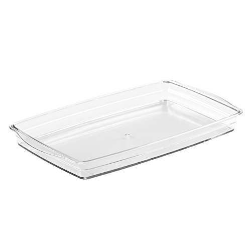 InterDesign Cosmetic Organizer Tray for Vanity Cabinet to Hold Makeup Beauty Products Hand Towels - Clear
