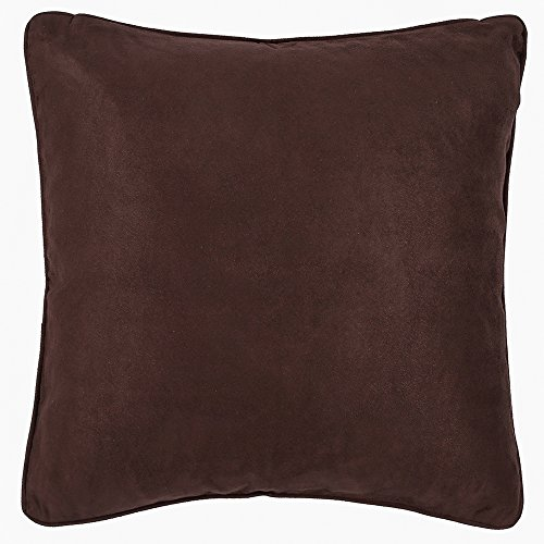 DreamHome 22 X 22 Inches Faux Suede Decorative Pillow CoverSham Brown
