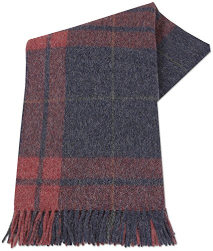 ALPACAFAB - Alpaca Wool Blanket Sofa Throw - Tumitula - Alpaca and Wool 51 x 71 in Blue  Red