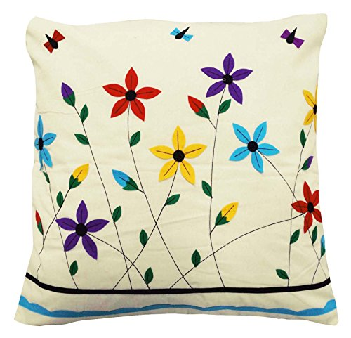 100 Cotton Cushion Cover 60 Cm Floral Design Patchwork Pillow Case Throw 24 x 24 Inches