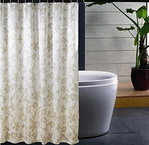 Unique Flower Vine Shower Curtain Custom Printed Waterproof Fabric Polyester Bath Curtain -Water Proof Antibacterial Nontoxic Bathroom Decor Shower Curtain 72x80inch 2