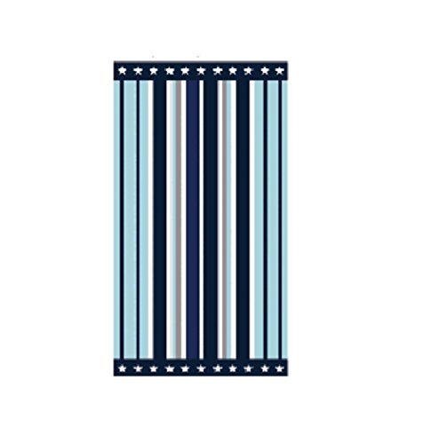 US Polo Association Large 40 x 70 Striped Beach Towel - Multicolored Design Sail Away Striped