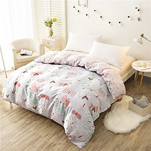 KingQueen 100Cotton Bed Quilt Cover Single Double Duvet CoverOnly Include Quilt Cover Simple Pure Cotton Printed Quilt CoverIf Love220×230cm