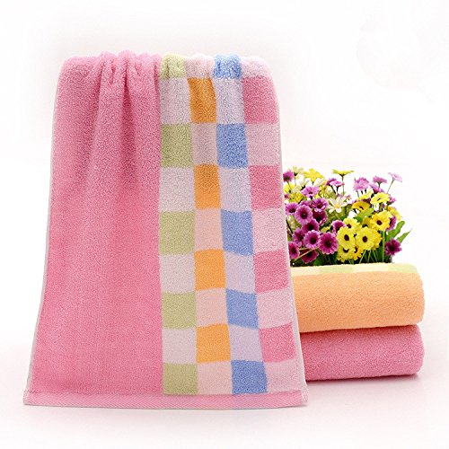 Tender Towels Pink Hand Towels Blue and Yellow Plaids Hand Towels For Lover 100 Cotton Face Towel Super Soft Towel Set 6 pcs