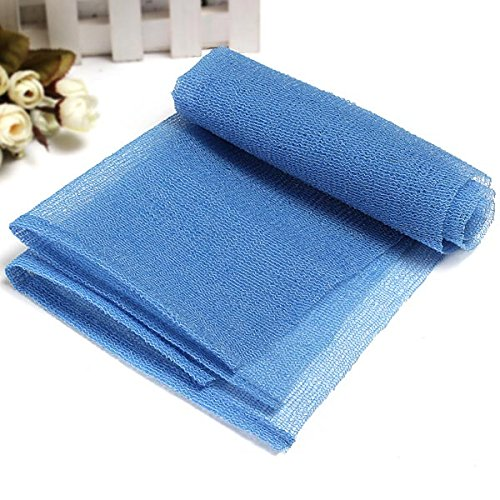 LKTShop Exfoliating Nylon Bath Wash Cloth Towel Blue
