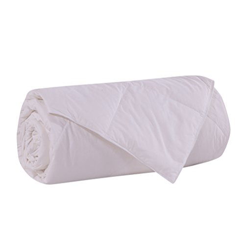 Lightweight 75 White Goose Down and Feather Comforter for Summer Spring Size KingSolid White