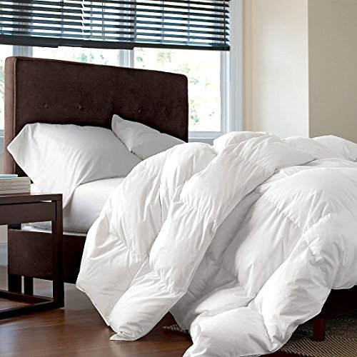 Rose Feather GOOSE DOWN Feather Comforter Insert InnerSoild WhiteQueenFull Size