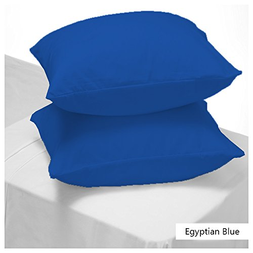 SRP LINEN Egyptian Cotton Cal KingCalifornia King 20 x 40 Inches Super Soft Pillow Cases Egyptian Blue Solid---400 Thread Counts