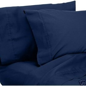 Elegant Comfort Luxury Wrinkle Free Fade Resistant 1500 Thread Count Egyptian Quality 4-Piece Bed Sheet Set Deep Pocket 100  HypoAllergenic Queen Size  Navy Blue