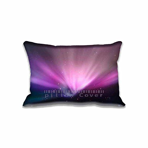 Mac Aurora Space Pillow Case with Zipper 16x24inch2 Sides Home Decorations Pillow Cushion Protector