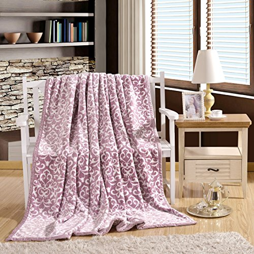 Bedding Soft Fabric Warm Lightweight Couch Blanket Flannel Thick Blankets  Then Double-Thick Warm Blanket 180210Cm Pink