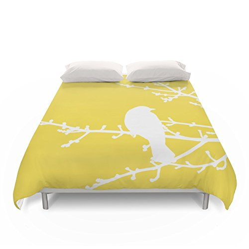 Society6 Yellow Bird - Modern Duvet Covers King 104 x 88