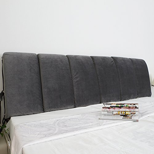 Vercart Sofa Bed Large Filled Triangular Wedge Cushion Bed Backrest Positioning Support Pillow Reading Pillow Office Lumbar Pad with Removable Cover Gray 59 Inches