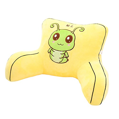 Sweet Baby Bed Rest Pillow with Arms Lumbar Support Reading Pillows Kids Bedrest Cushion Yellow
