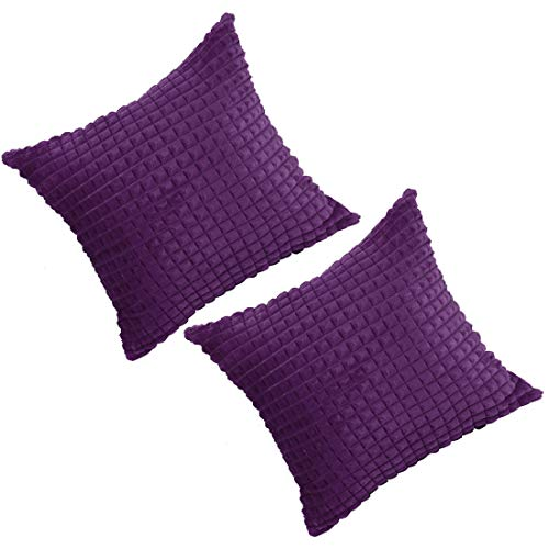 PICCOCASA Pack of 2Fluffy Pillow Cover Faux Fur Cushion Cover Plush Throw Pillow Case Soft Warm Deluxe Home Decorative for Sofa Couch Bed Car24 x 24 Inch 60 x 60 cm Purple