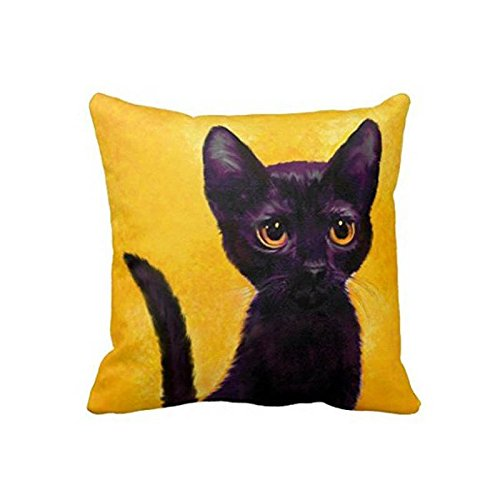 Space No 1 Black Cat Soft Durable Home Decorative Sofa Cushion Cover Invisible Zipper Bedding Sets Cojines