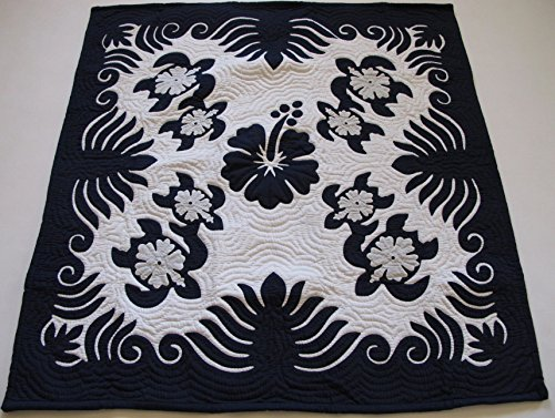 Hawaiian Quilt Wall Hanging Baby Crib Blanket 100 Hand Quilted and 100 Hand Appliqued 42