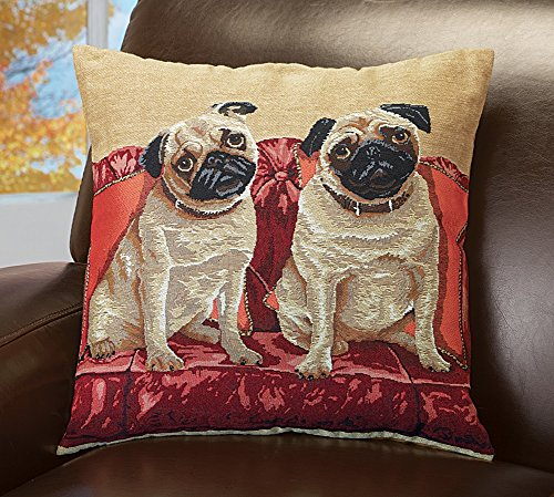 Pug Tapestry Pillow Cover