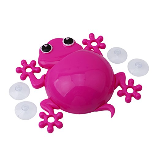 Yesido 1PC Cartoon Frog Powerful Wall Suction Hook Bathroom Organizer Toothbrush Holder Pink