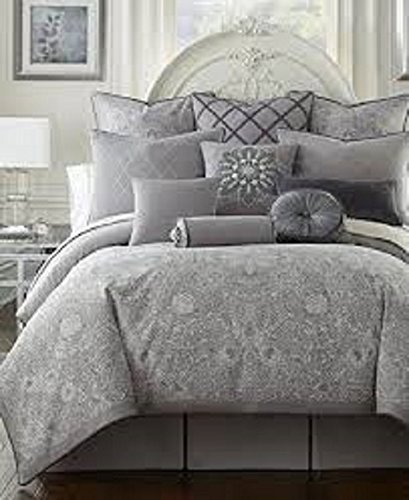 Waterford Chantilly Platinum Grey Euro Pillow Sham