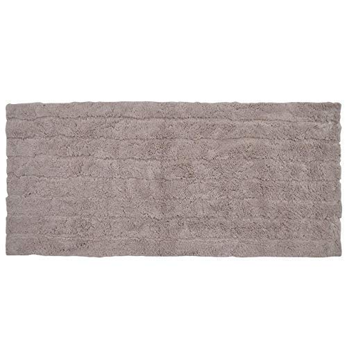 Casa Platino Bathroom Rug Bath Mat Non Slip Soft Water Absorbent Cotton Extra Long 22 x 60 Inches Thick Bathoom Runner Taupe