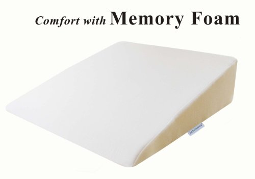 InteVision Foam Wedge Bed Pillow 26 x 25 x 75 with High Quality Removable Cover