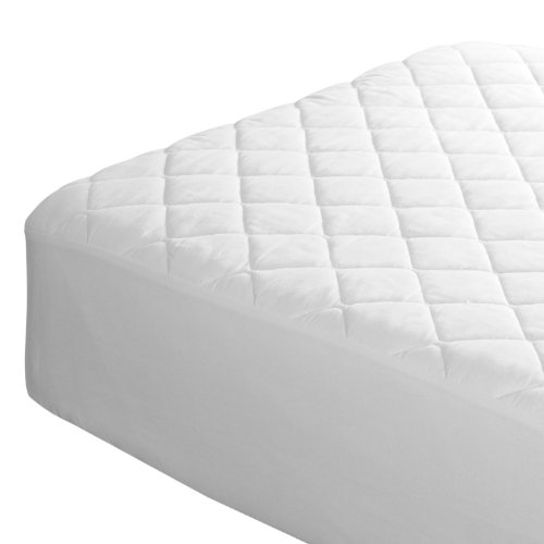Queen Size Mattress Protector - Waterproof Vinyl-Free Cotton Bed Cover Premium Quality Liner Sheet for Cool Comfortable Quiet Sleep 60 x 80 in