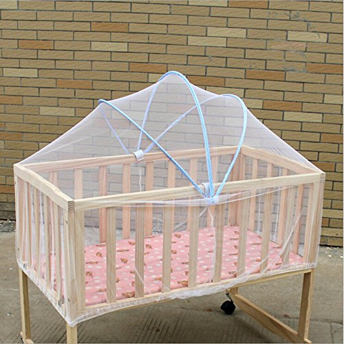 Baby Mosquito Net Summer Safe Baby Carriage Insect Full Cover Mosquito Net Baby Stroller Bed Neti moustiquaire Elastic Stretches Easy to Attach