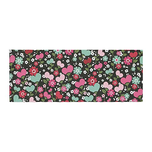 KESS InHouse Heidi Jennings Love is Growing Pink Green Bed Runner 34 x 86
