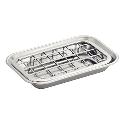InterDesign Sinkworks Two Piece Soap Dish Stainless Steel Chrome