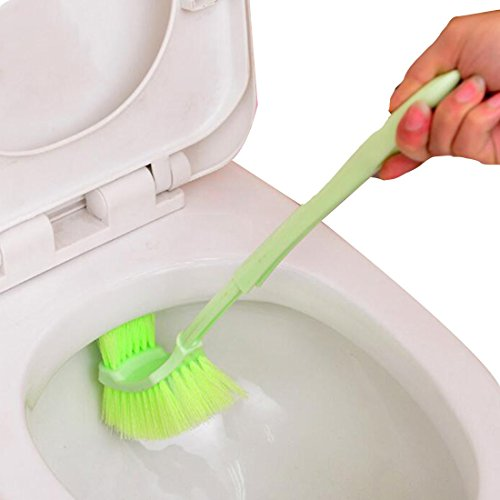 Toilet Brush Portable Plastic Long Handle Bathroom Toilet Bowl Scrub Double Sided Cleaning Brush