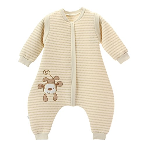 Gemini Fairy Cotton Baby Sleeping Nest Infant Wearable Blanket with Separate Legs Detachable Sleeves