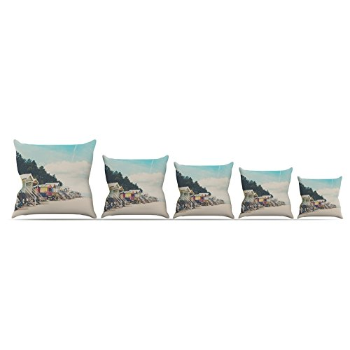 Kess InHouse Laura Evans Small Spaces Beach Coastal Throw Pillow 26 by 26