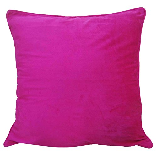 Pink Velvet Cover Square Pillow Case Bed Sofa Cushion Cover Indian Home Decor 24 x 24 Inches