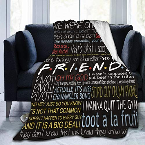 SeekingSewShow Friends Blanket Quilt TV Show Flannel Throw Blanket for Sofa Couch Bed