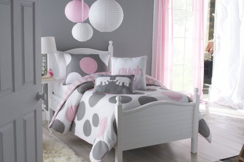 VCNY Parade Twin Comforter Set Pink 2-Piece